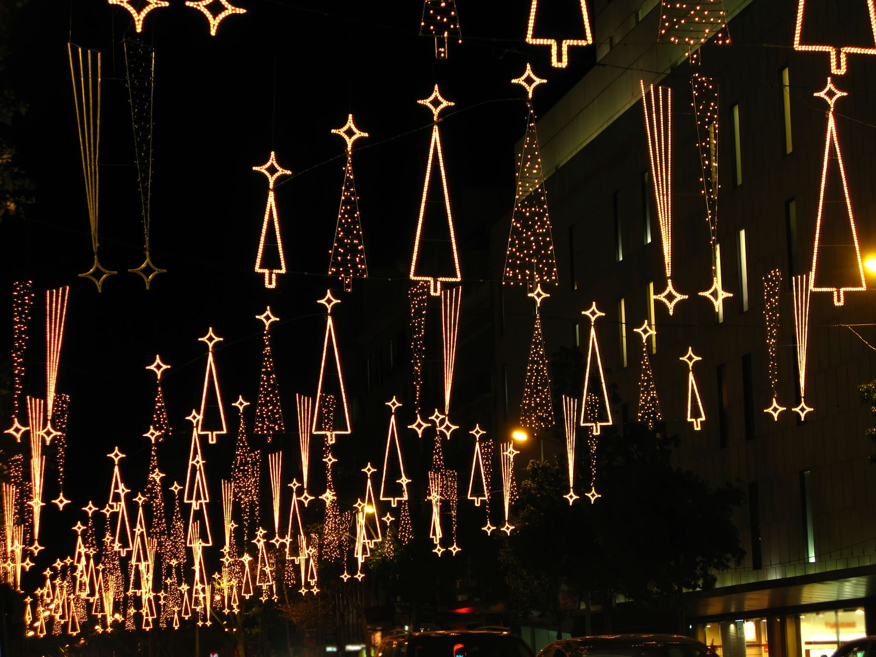 Christmas decorations in Barcelona, Spain