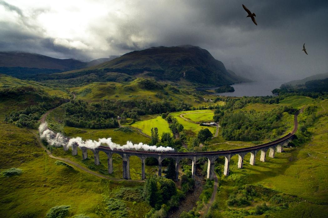 Η οδογέφυρα Glenfinnan από τις ταινίες του Χάρι Πόττερ.