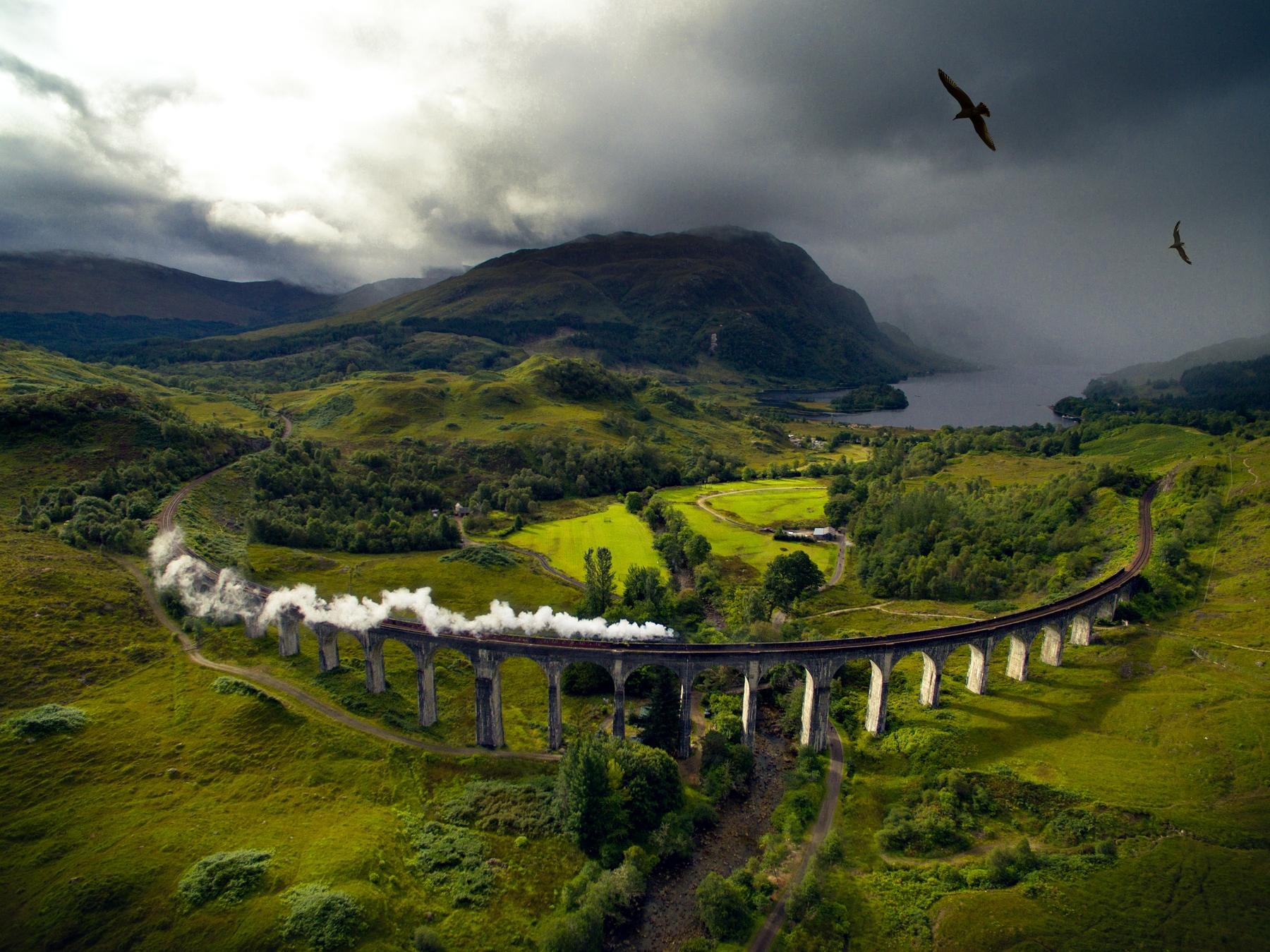 Виадук Гленфиннан в Шотландии — где ходит «Хогвартс-Экспресс» из Гарри Поттера