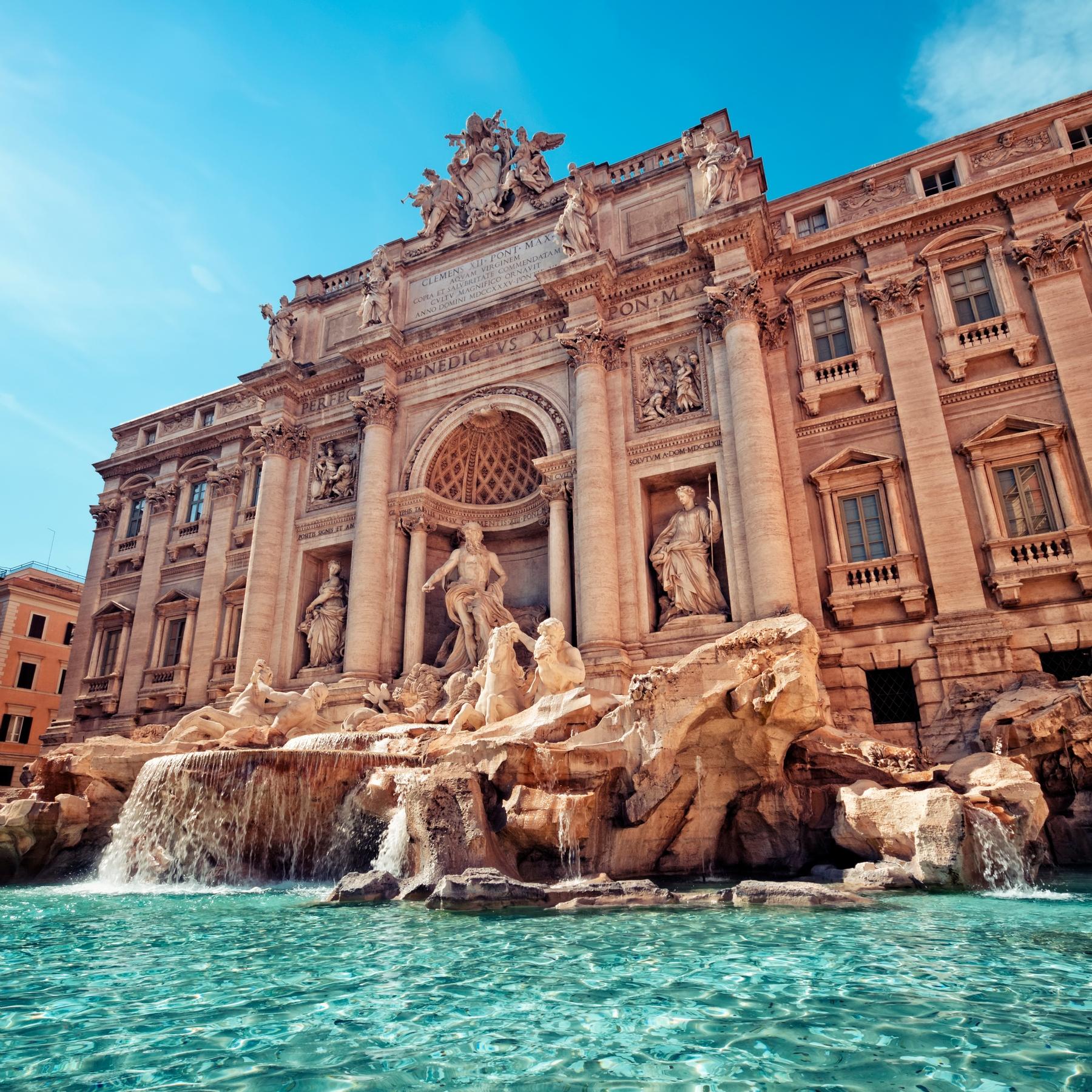 Достопримечательности Рима — фонтан Треви