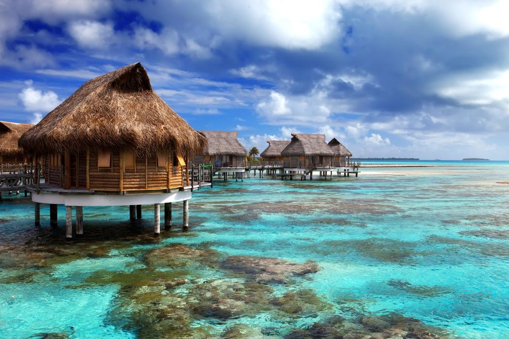 Dream destination - floating villas in the Maldives