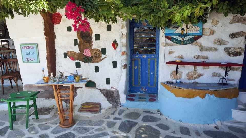 Ремесленная мастерская на греческом острове Аморгос