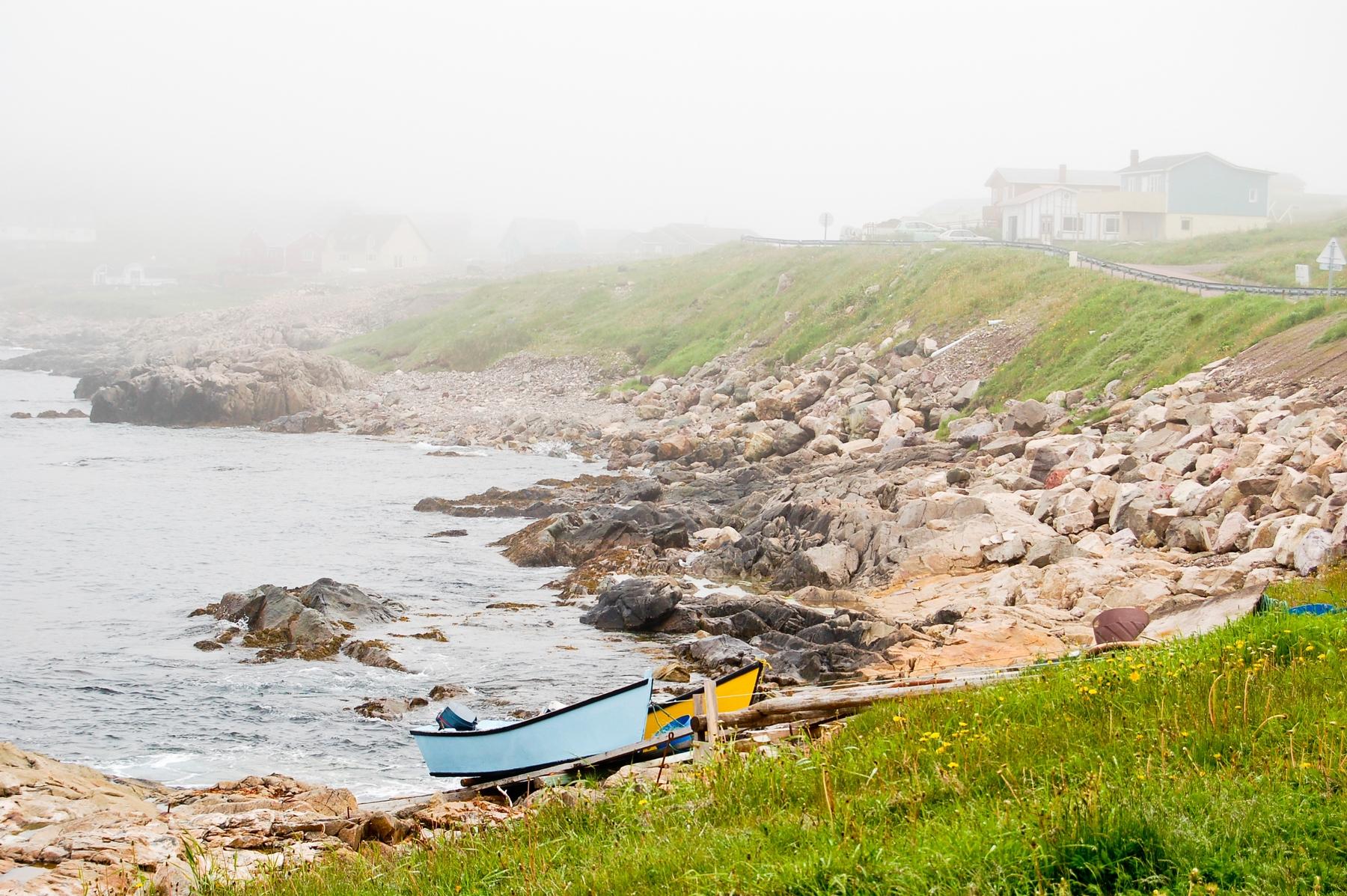 The rocky coastline of Twillingate, Newfoundland, a great October holiday destination