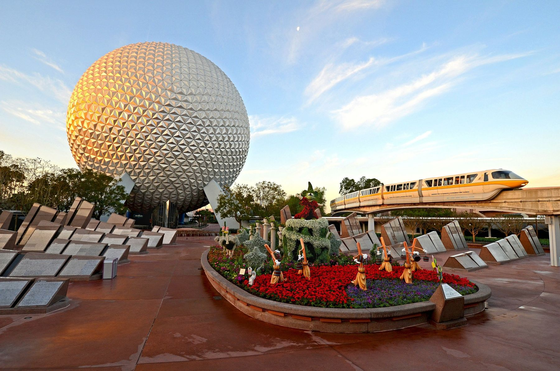 view of Epcot Disney
