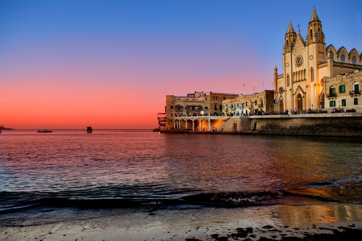 Malta at dusk