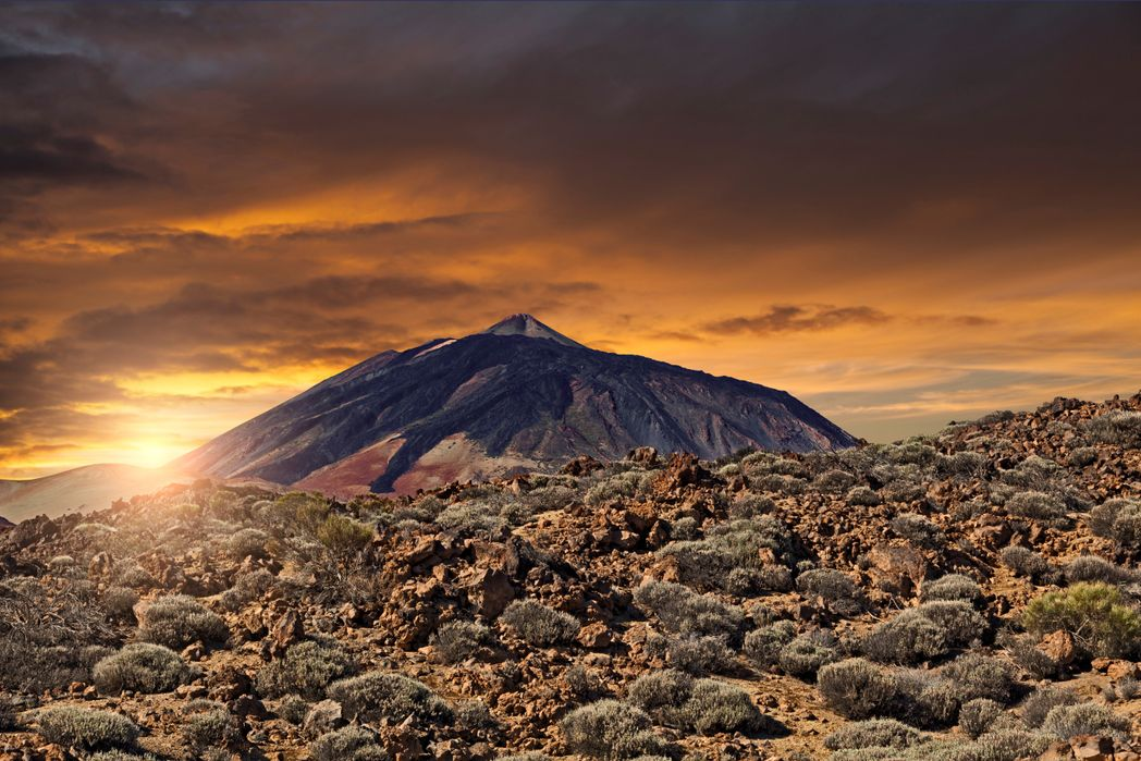 Mount Teide, the top tourist attraction in Tenerife, Canary Islands