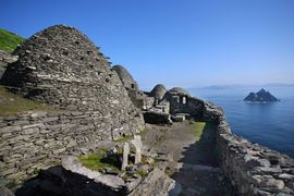 Skellig Michael, the filming location for Star Wars in Ireland