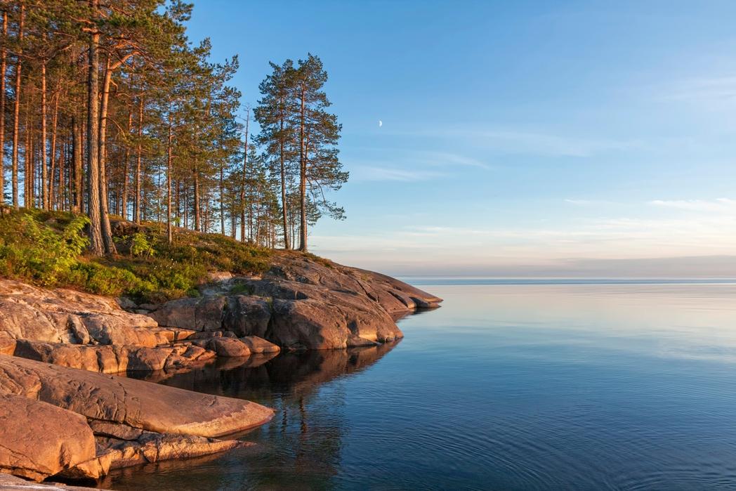 Serene landscape by the sea in Split, Croatia