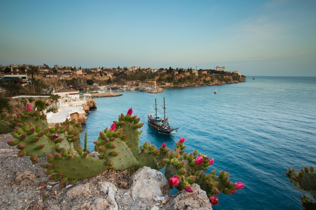 Sailing ship in Antalya, one of the top destinations to visit on a holiday to Turkey