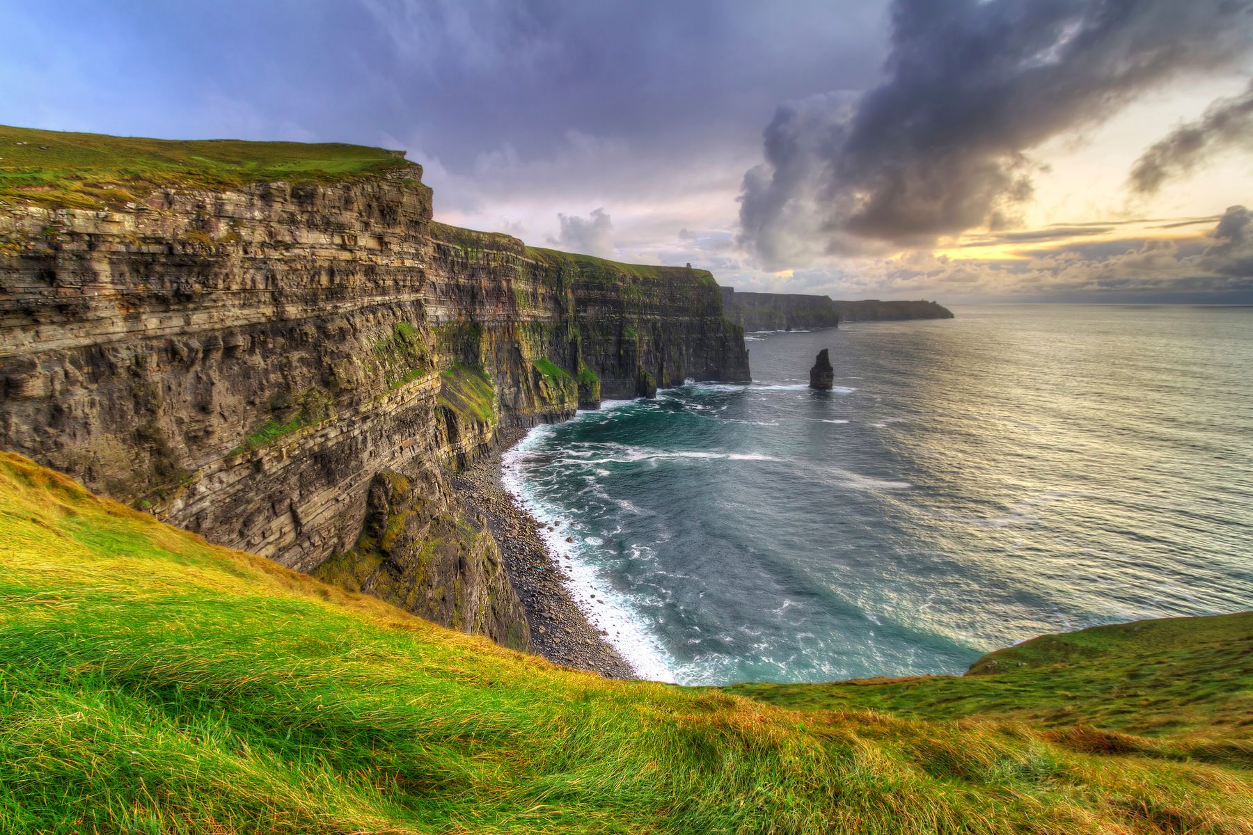 Cliffs of Moher in Ireland, one of the best places to travel alone.