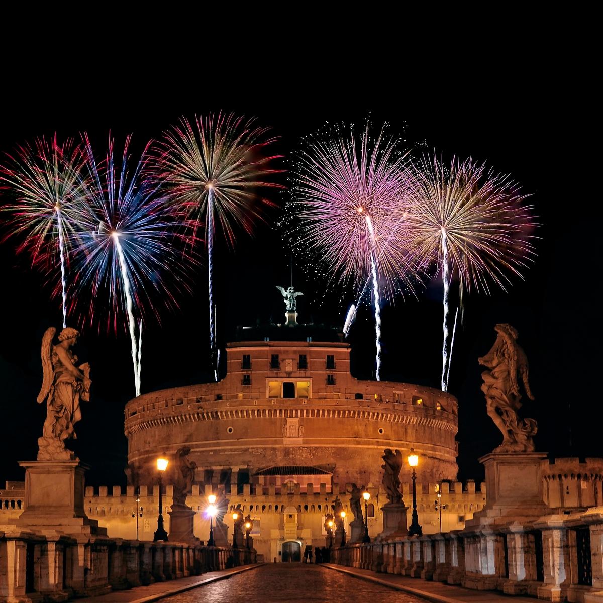 Πυροτεχνήματα την Πρωτοχρονιά στη Ρώμη