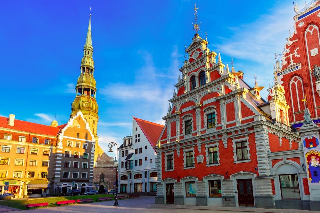 Koμψά κτίσματα στην Παλιά Πόλη της Ρίγας, Λετονία
