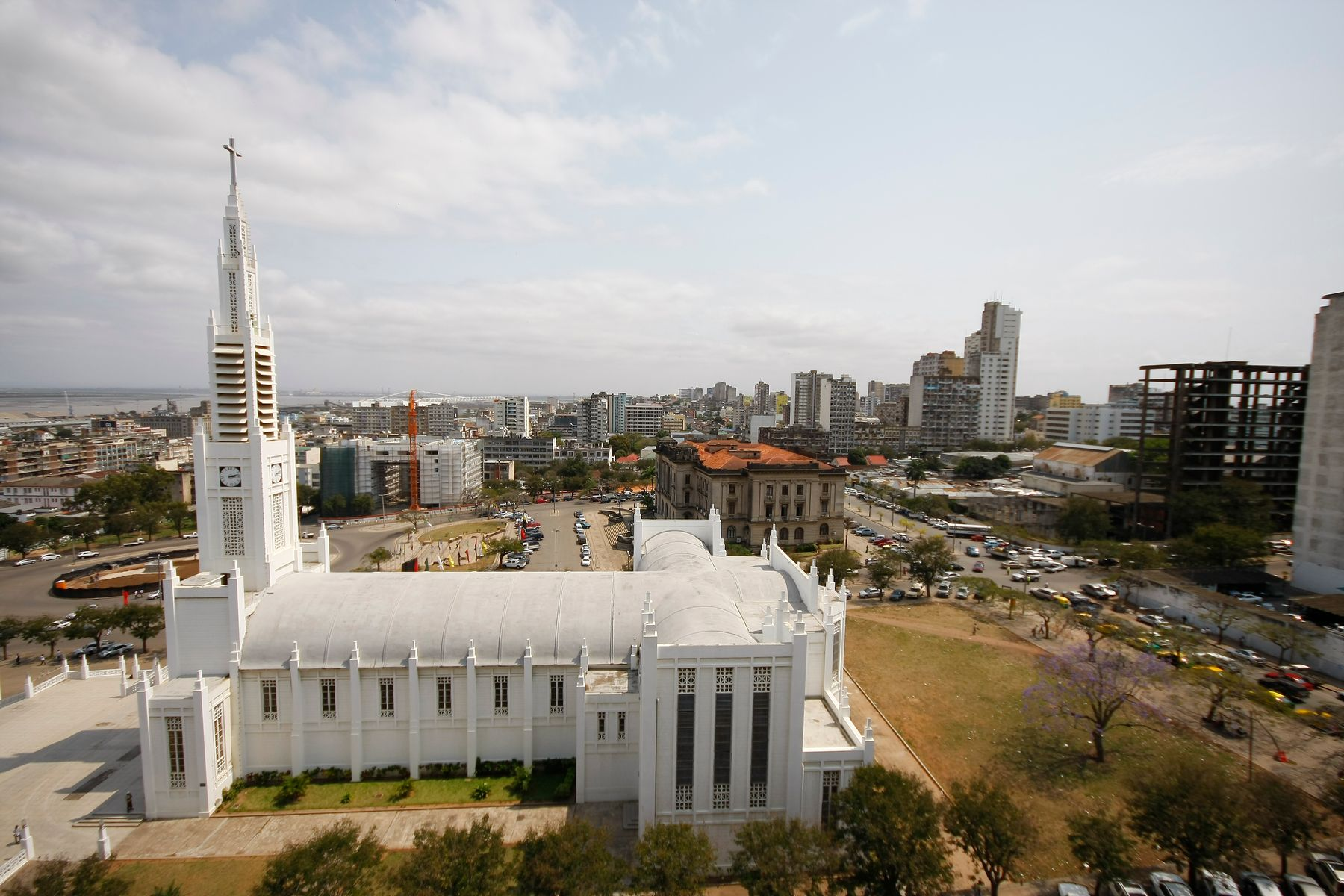 The Cathedral of Our Lady of the Immaculate Conception in downtown Maputo designed by the Portuguese civil engineer Marcial Simões de Freitas e Costa