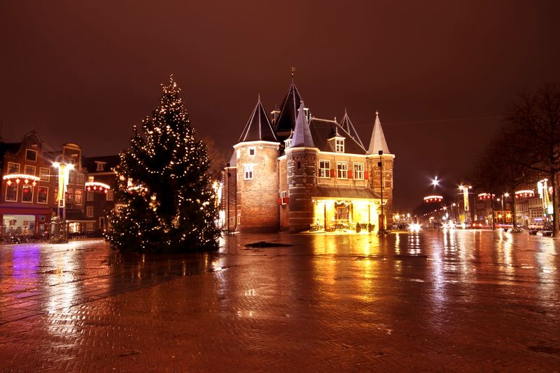Christmas market in Amsterdam