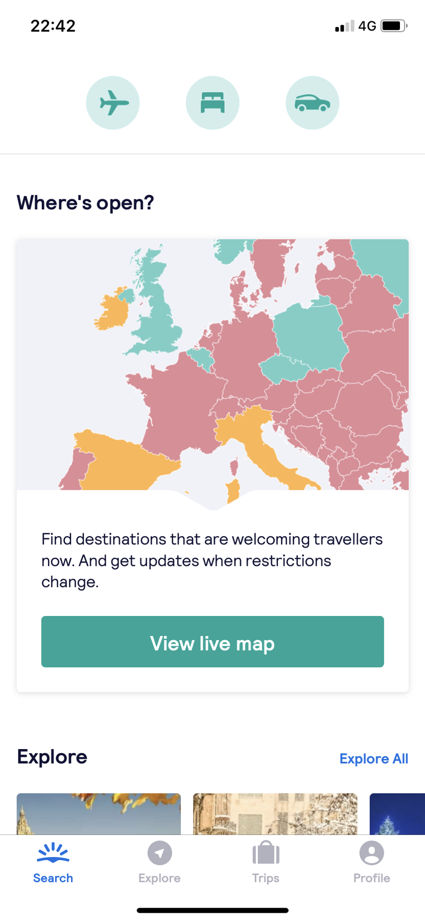 Use the 'Where's Open?' map to search for travel restrictions across the globe. Then, check if open destinations are included in Virgin Atlantic Black Friday deals