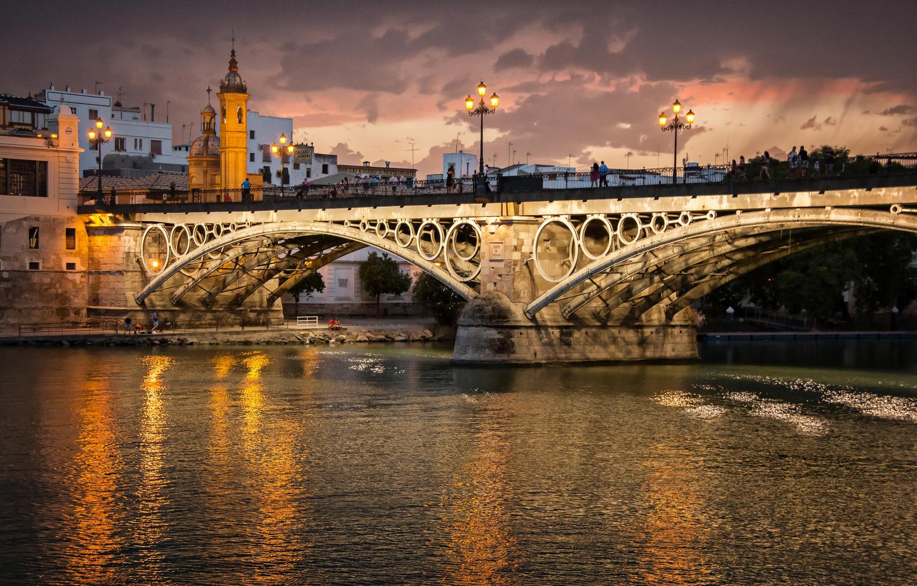 Una de las estampas más típicas de Trinana, cuna del flamenco en Sevilla