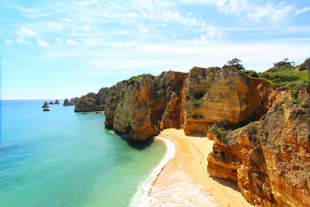 Παραλία στο Αλγκάρβε, Πορτογαλία.