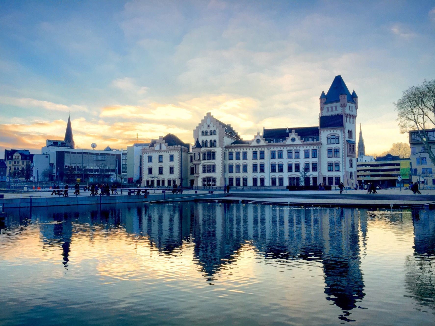 Dusseldorf at sunset