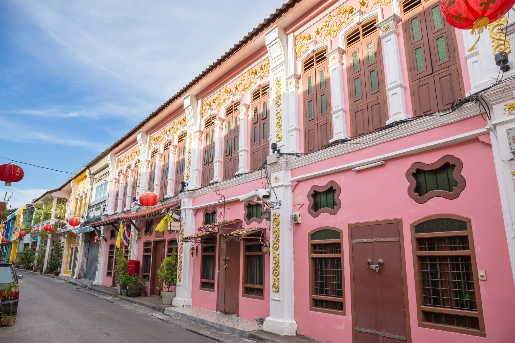 colonial architecture in the old town of Phuket, Thailand