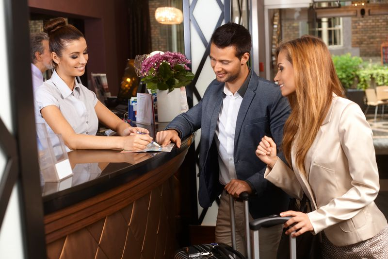 people check in in hotel
