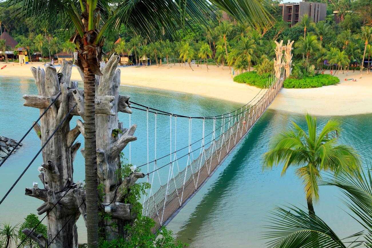 Πάρκο με κρεμαστή γέφυρα στη Σιγκαπούρη