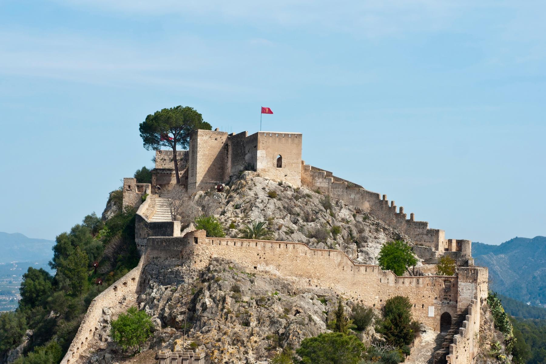 El Castillo de Xátiva fue nombrada una de las siete maravillas valencianas y es uno de los lugares más bonitos de la Comunidad Valenciana