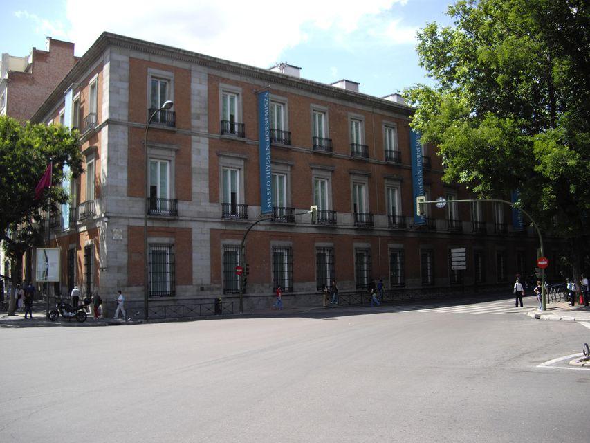 Toma del Museo Thyssen-Bornemisza en Madrid durante el día