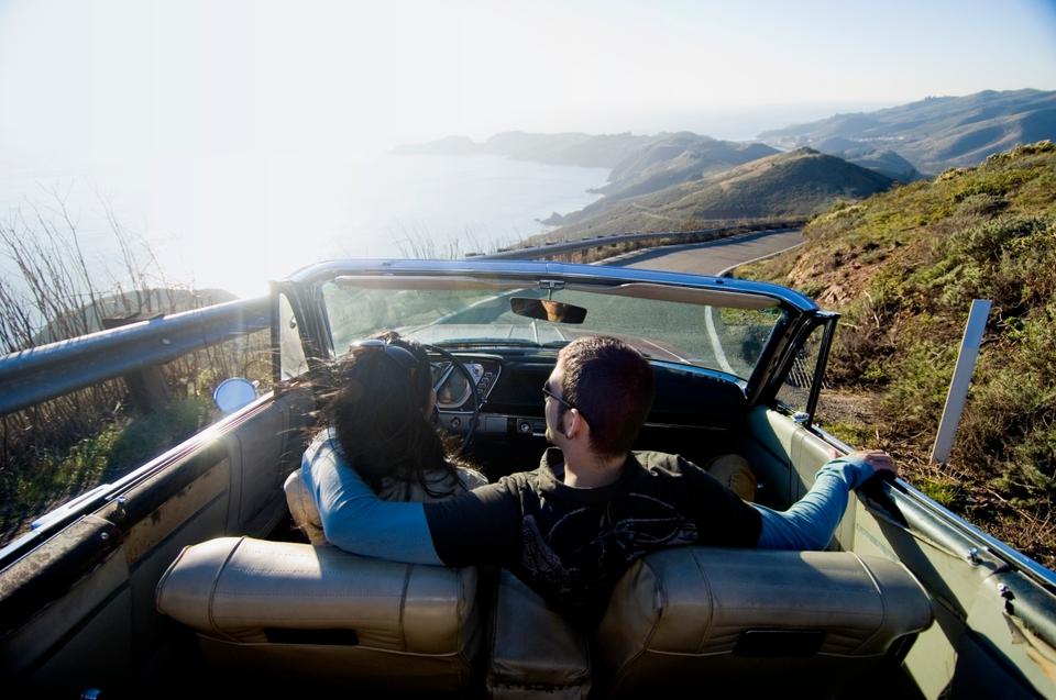 Auto, zon, op reis