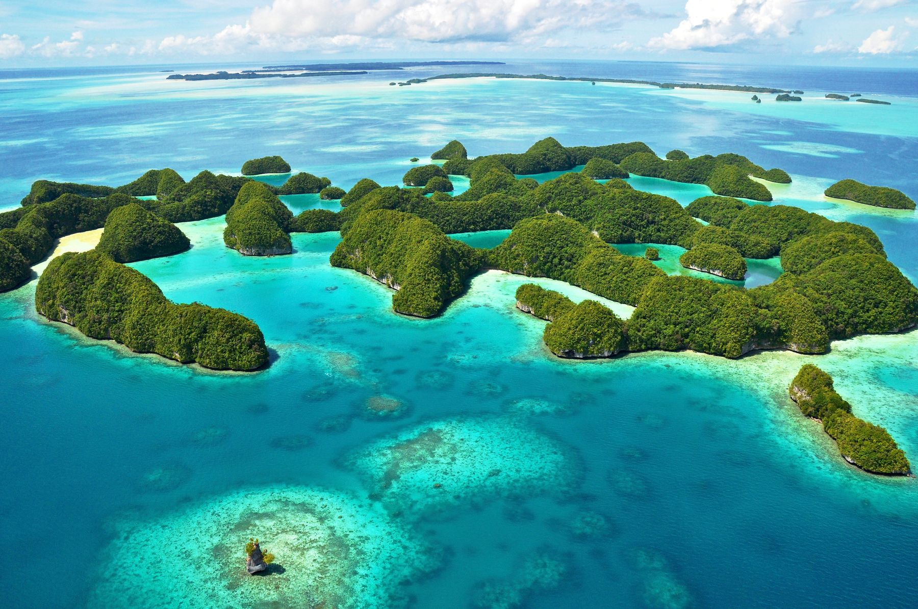 aerial view of the sustainable destination of palau