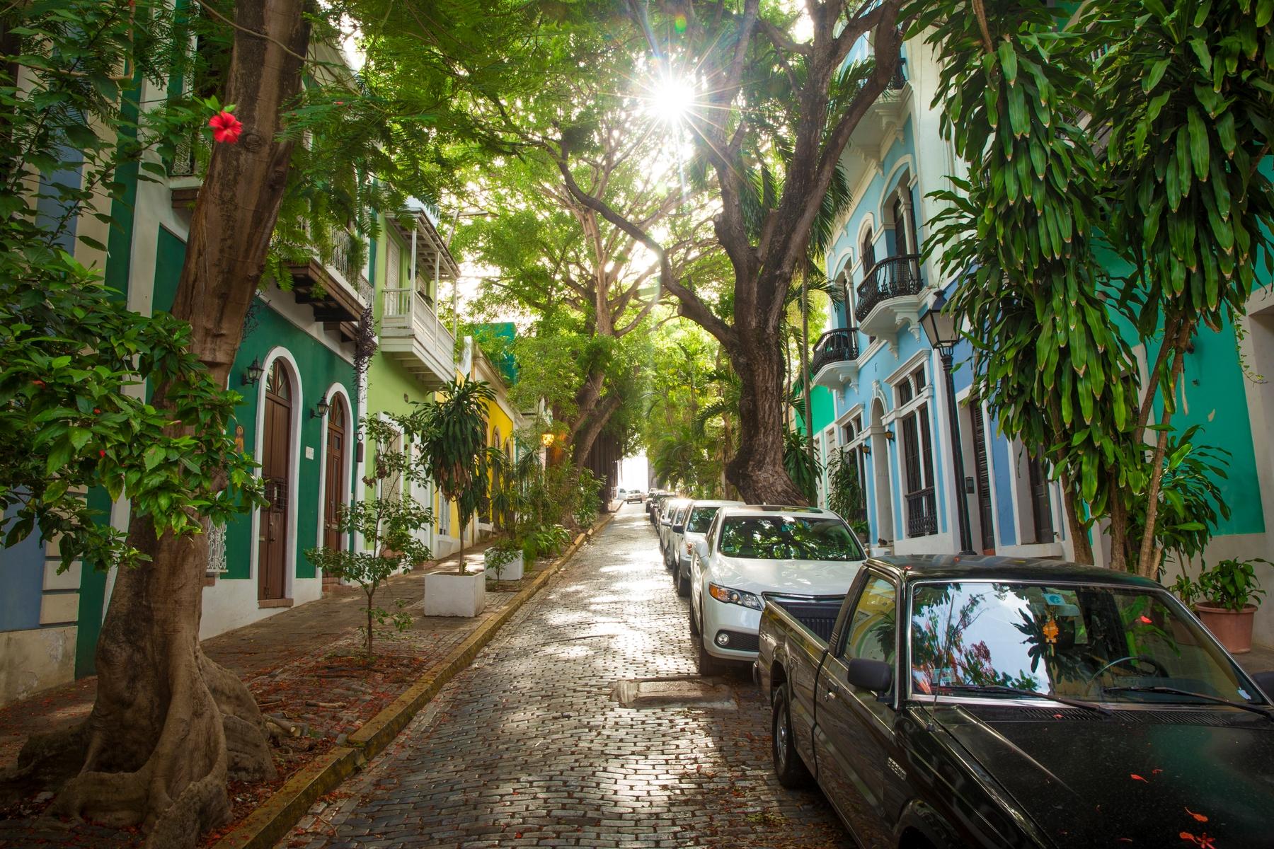Street in San Juan, Puerto Rico, a popular spot for a winter vacation