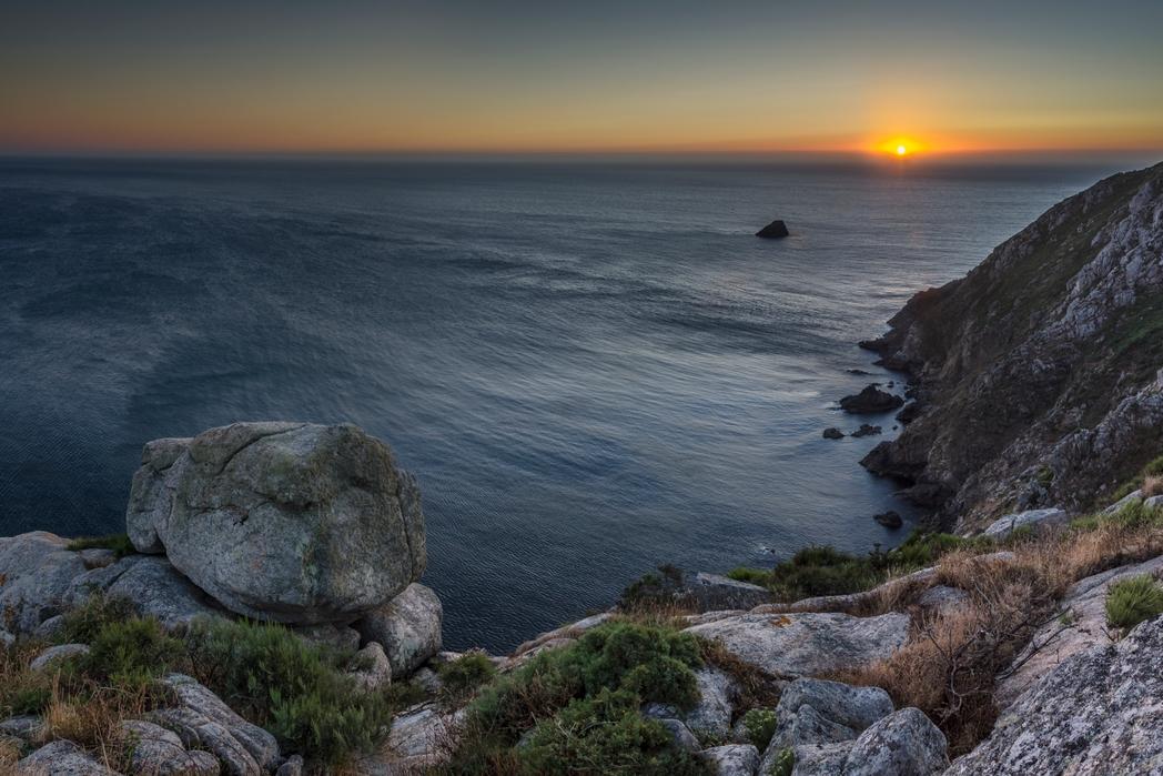Ηλιοβασίλεμα στο ακρωτήριο Φινιστέρε.