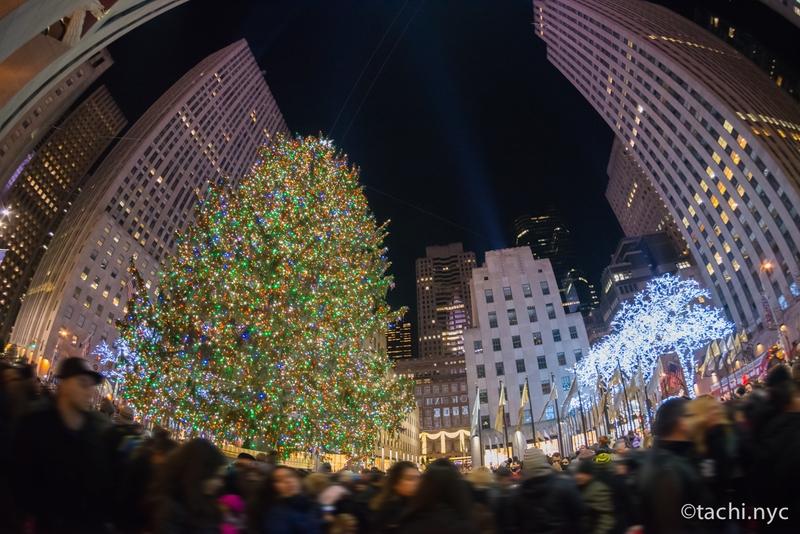 ニューヨーク ロックフェラー・センターのクリスマスツリー(アメリカ)