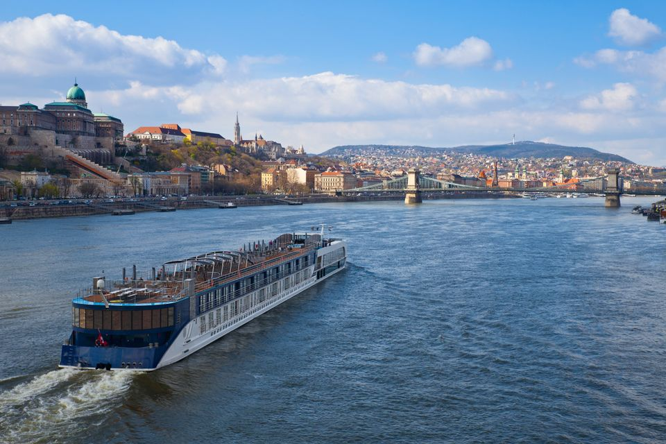 Walk along the promenade or take a cruise on the Danube