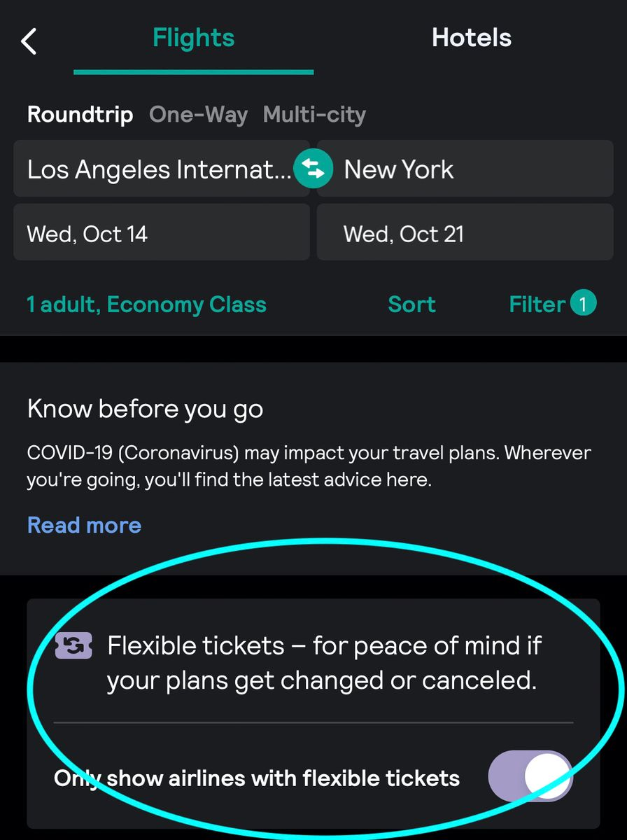 Cathay Pacific Skyscanner app search. Use our new flexible ticket filter when you do a flight search.