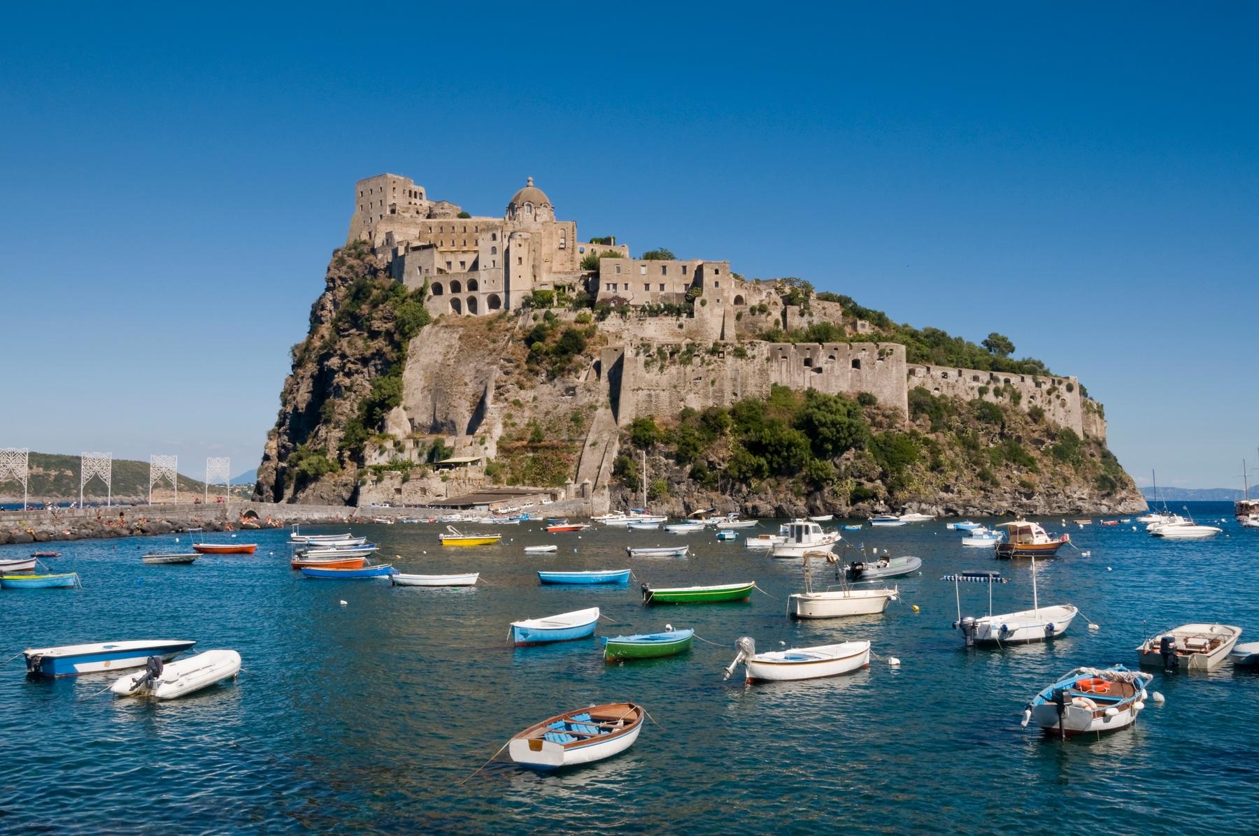 The rocky island of Ponza, near Tuscany