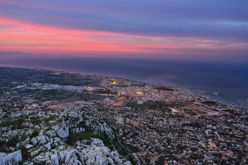 Atardecer en Denia Alicante