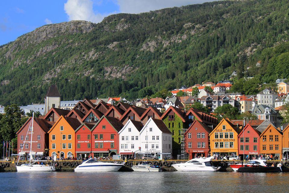 Tα σπιτάκια στο Bryggen, στο Μπέργκεν - εναλλακτικά ταξίδια στην Ευρώπη