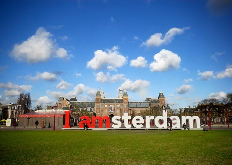 Take a photo at I amsterdam - אמסטרדם