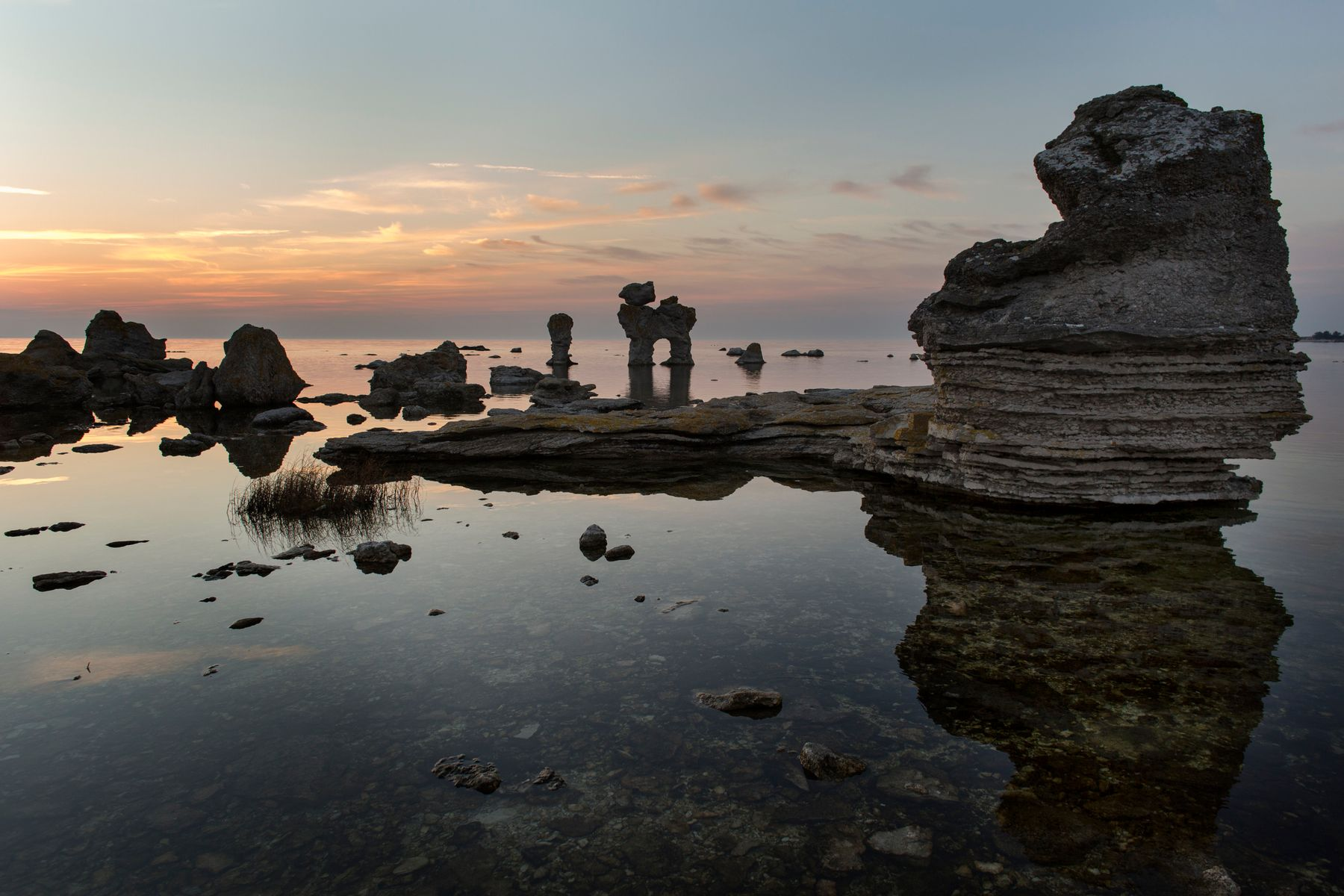 Sweden getaway magic: the rauks at Fårö island, near Gotland