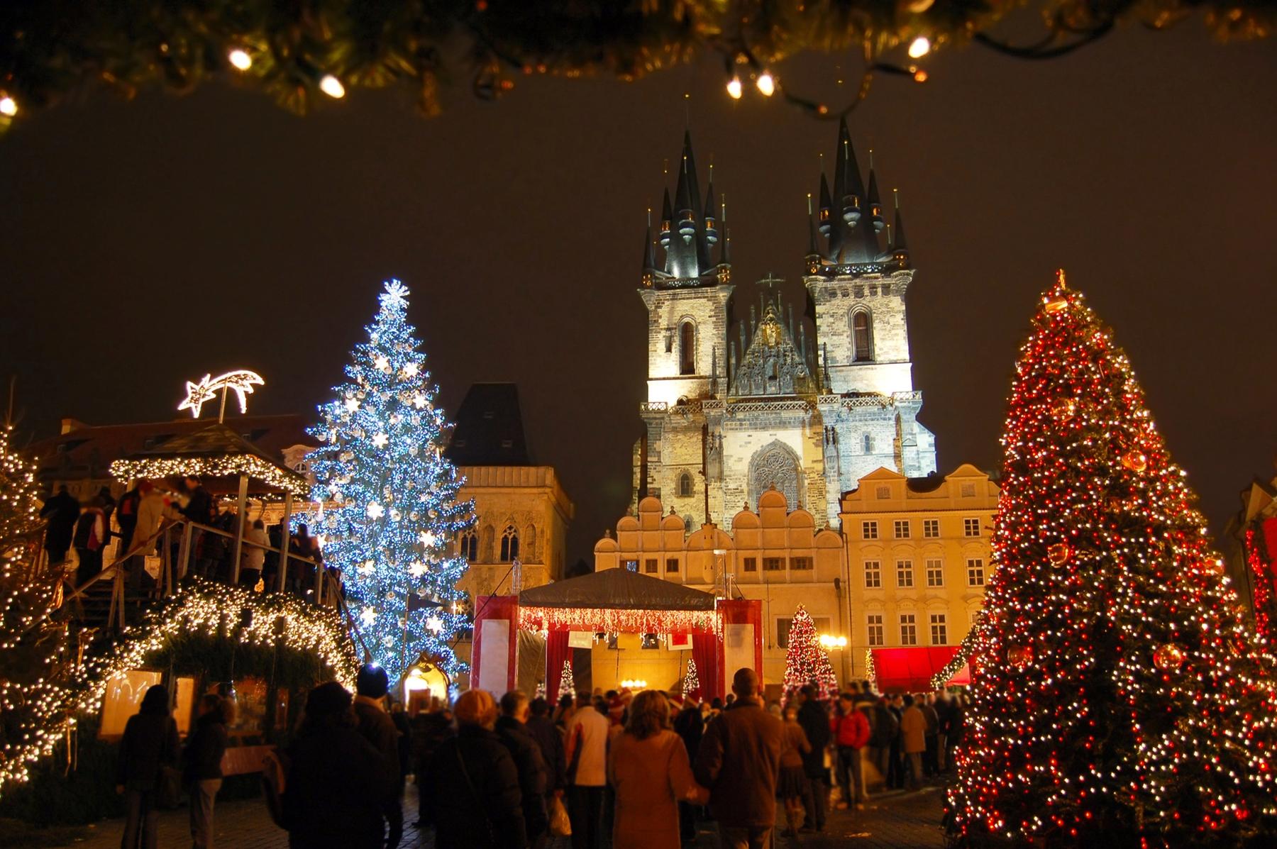 Рождественская ярмарка в Праге.