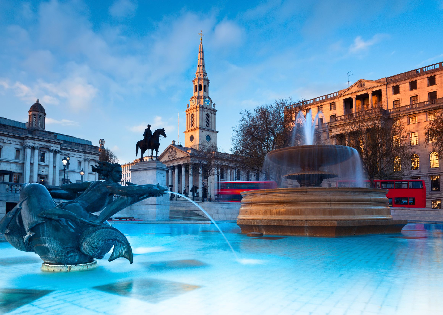 Attraktionen und Sehenswürdigkeiten in London: Trafalgar Square