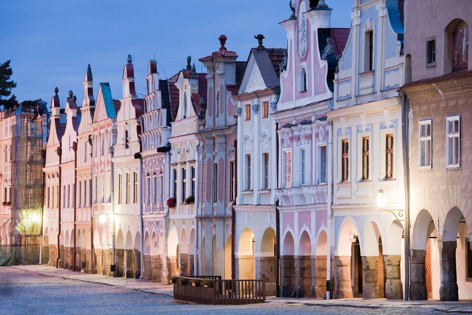 Дома в городе Тельч, Чехия