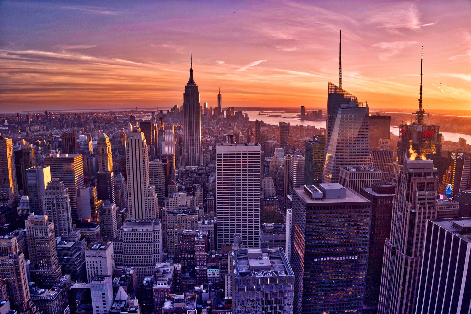 Prédios em Manhattan, Nova York.