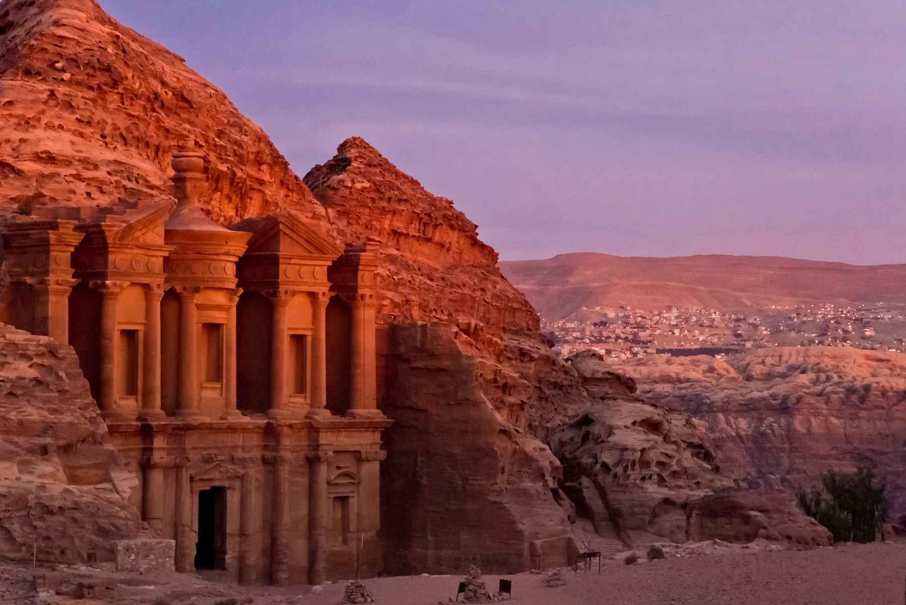 Ruínas de Petra, na Jordânia.