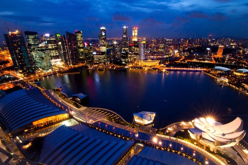 Бананово-лимонный Сингапур с высоты колеса обозрения