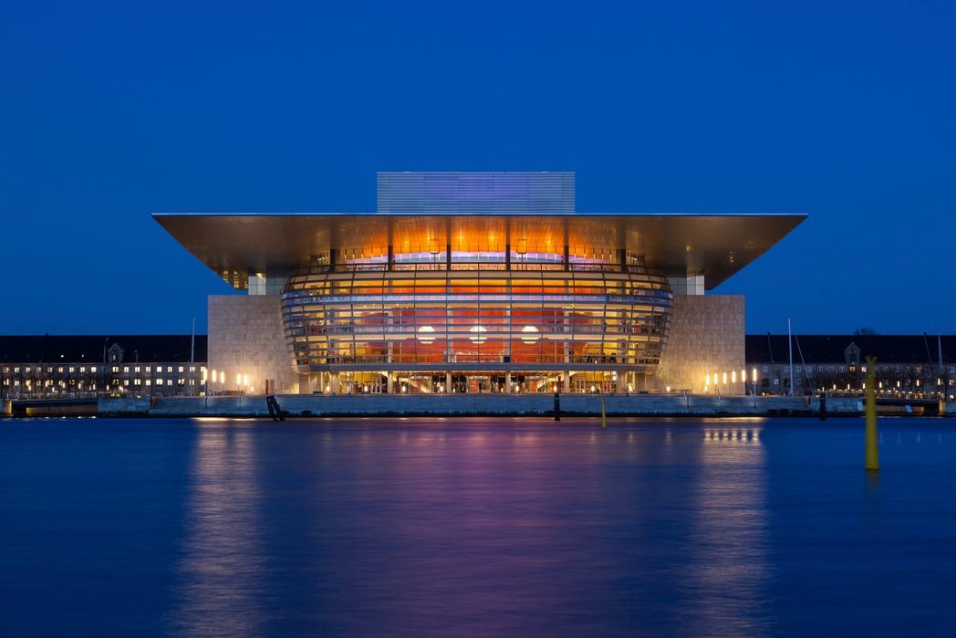 Θέα στην Όπερα της Κοπεγχάγης απ' τους κήπους Amaliehaven