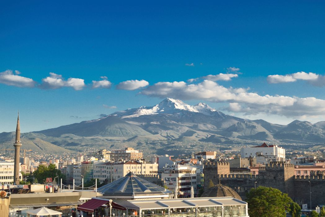 Şehirden Erciyes Dağı manzarası, Kayseri