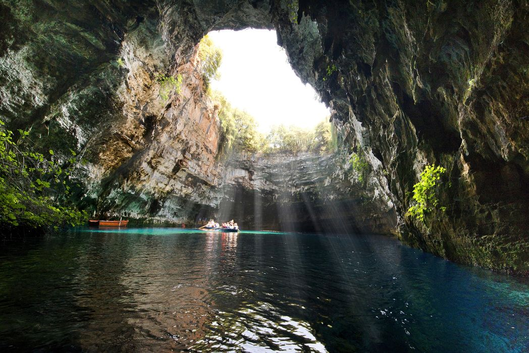 Melissani Lake Cave, on Kefalonia