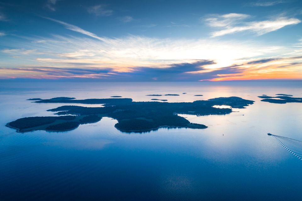 Sunset over the Brijuni Islands, Croatia - top 9 things to do in Pula and Rovinj