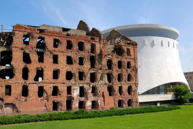 Руины мельницы Гергардта в Волгограде